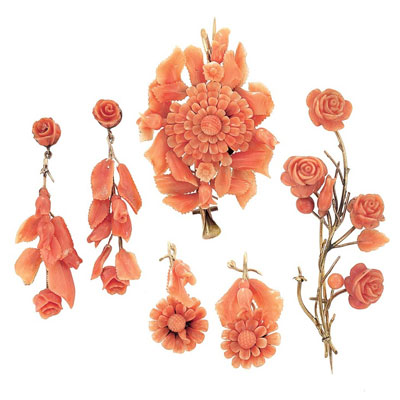 Vintage Coral Jewelry By Estate Beads